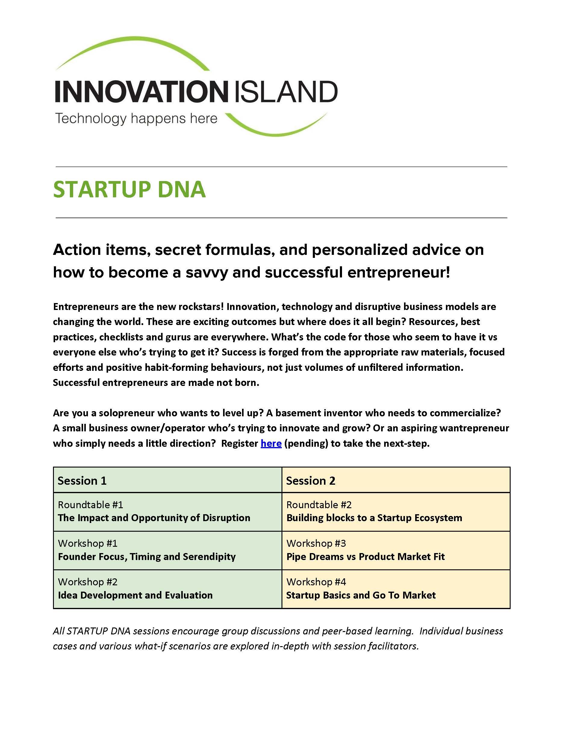 Startup DNA - Primer